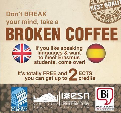 «Broken Coffe» Con ESN En La Casa Del Estudiante, A Partir Del Día 26