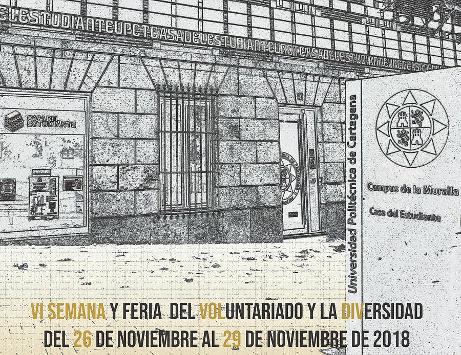 VI Semana Y Feria Del Voluntariado Y La Diversidad, Del 26 Al 29 De Noviembre En La Casa Del Estudiante