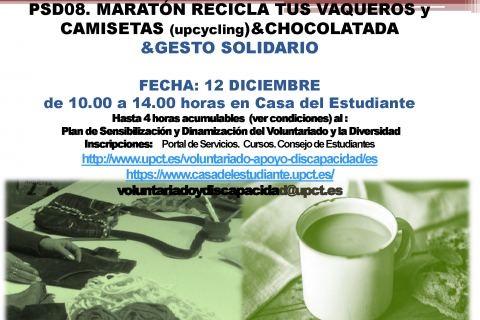 Maratón De Reciclaje De Vaqueros Y Chocolatada Solidaria, El 12 De Diciembre En La Casa Del Estudiante