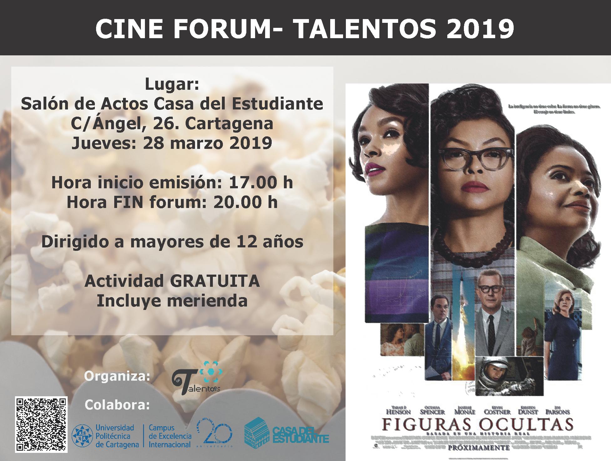 Nueva Edición Del Cineforum Con La Proyección De «Figuras Ocultas»