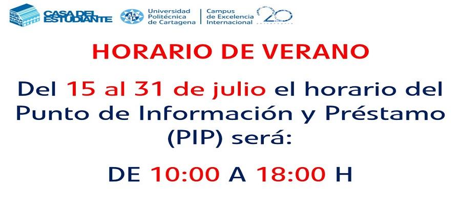Horario De Verano Del Punto De Información Y Préstamo (2019)